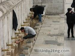 ablution Urdu Meaning