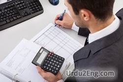 accountant Urdu Meaning