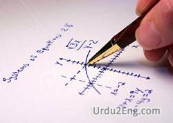 algebra Urdu Meaning