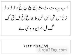 alphabet Urdu Meaning