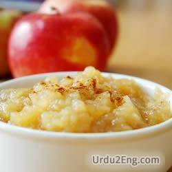 applesauce Urdu Meaning