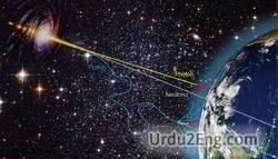 astrophysics Urdu Meaning