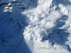 avalanche Urdu Meaning