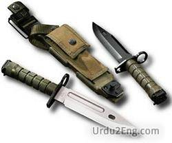 bayonet Urdu Meaning