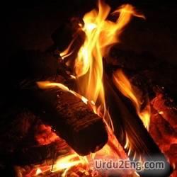 blaze Urdu Meaning