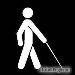 blind Urdu Meaning