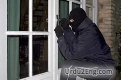 burglar Urdu Meaning