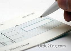 cheque Urdu Meaning