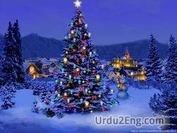 christmas Urdu Meaning