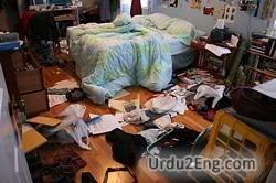 clutter Urdu Meaning