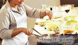 cooking Urdu Meaning