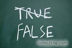 false Urdu Meaning