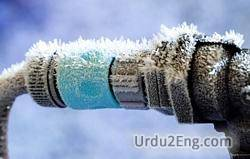 freeze Urdu Meaning