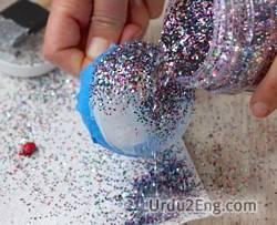 glitter Urdu Meaning