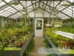 greenhouse Urdu Meaning