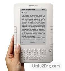 kindle Urdu Meaning