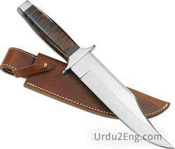 knife Urdu Meaning