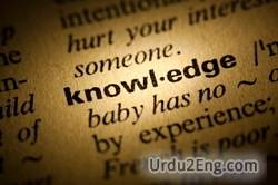knowledge Urdu Meaning