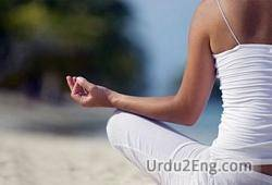 meditate Urdu Meaning