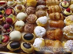 pastry Urdu Meaning