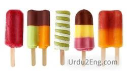 popsicle Urdu Meaning