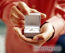 propose Urdu Meaning
