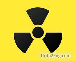 radioactive Urdu Meaning