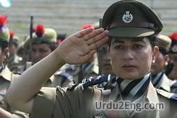 salute Urdu Meaning