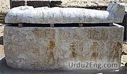 sarcophagus Urdu Meaning
