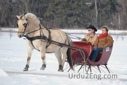 sleigh Urdu Meaning