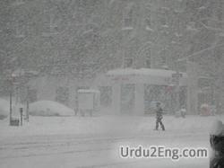 snowstorm Urdu Meaning
