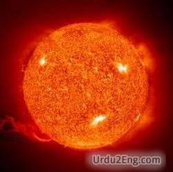 solar Urdu Meaning