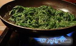 spinach Urdu Meaning