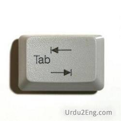 tab Urdu Meaning