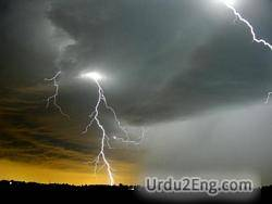 thunder Urdu Meaning