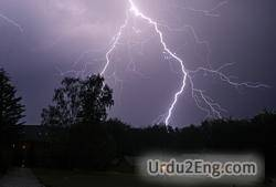 thunderstorm Urdu Meaning