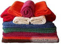 towel Urdu Meaning