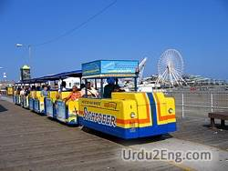 tramcar Urdu Meaning