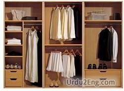 wardrobe Urdu Meaning