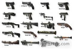 weapon Urdu Meaning