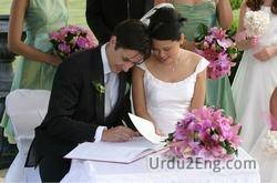 wedding Urdu Meaning