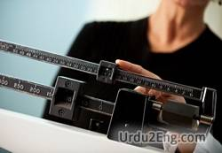 weight Urdu Meaning