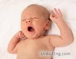 yawning Urdu Meaning
